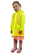 Pláštěnka PVC neonová Pidilidi žlutá