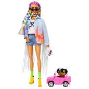 Barbie extra s duhovými copánky