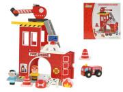 Sada dřevěná hasiči 22x12,5x22 cm