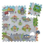 Hračka puzzle pěnové Město 30x30 cm 9 ks