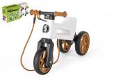 Odrážedlo Funny Wheels Rider SuperSport 2v1+popruh balené v krabici BÍLÉ 2. JAKOST