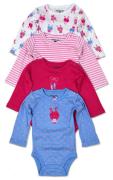 Body kojenecké 4pack, s dlouhým rukávem, Pidilidi, PD1003, holka