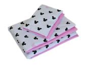 2-dílné povlečení Mickey, bavlněné - růžová, černá 120x90 cm
