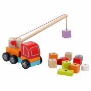 Autojeřáb s magnetem - dřevěná skládačka Cubika
