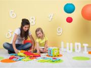 Puzzle pěnové 90x90cm písmena a čísla Ludi