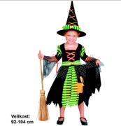 Kostým na karneval - čarodějka 92-104 cm