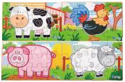 Dřevěné puzzle - farma Viga