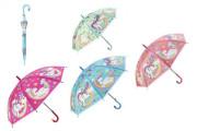 Deštník plastový s motivem Jednorožec 4 barvy