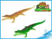Krokodýl pískací  30cm 2barvy