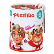 Naučné puzzle 21 dílů Puzzlika - Profese 2 (hasič, kuchař, kadeřnice)