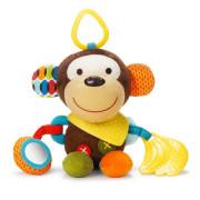 Hračka na C- kroužku aktivní Bandana Buddies - Opička 0m+