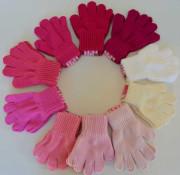 Zimní dívčí prstové rukavičky pletené Vel. S (1-3 roky)