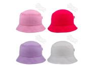 Dívčí letní plátěný klobouk jednobarevný RDX
