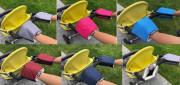 Rukavice na kočárek biobavlna