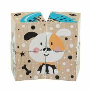 Veselá zvířátka - 4 skládací obrázkové kostky Cubika