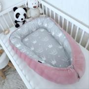 Oboustranné hnízdečko pro miminko kojenecký plyš/bavlna