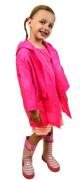 Pláštěnka PVC neonová Pidilidi Růžová