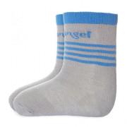 Ponožky s protiskluzem Outlast® Tm.šedá/modrá