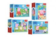 Minipuzzle 54 dílků Šťastný den Prasátka Peppy/Peppa