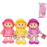 Textilní panenka s copánky