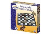 Magnetické cestovní šachy dřevěné kameny společenská hra