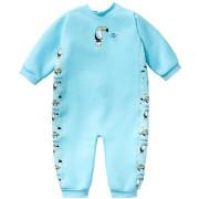 UV dětský neopren - overal - Zvířátka modrá