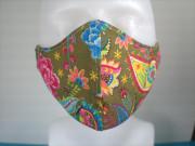 Látková respirační rouška - maska dámská jednovrstvá Fénix khaki