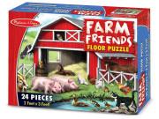 Puzzle podlahové farma 24 dílků