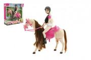 Hýbající se kůň + panenka žokejka Anlily