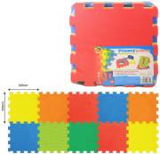 Pěnové puzzle podlahové barevné 10 ks, 32 x 32 cm