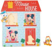 Disney Dřevěné puzzle Domeček pro nejmenší