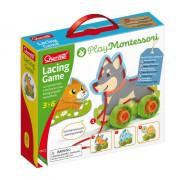 Quercetti Lacing Game lacing animals & wheels – šněrovací zvířátka