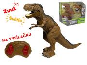 IR/C dinosaurus 36cm na baterie se světlem a zvukem