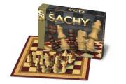 Šachy dřevěné figurky společenská hra v krabici