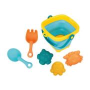 Skládací kyblík a hračky do vody 5 ks Bayo