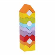 Věž XI - dřevěná skládačka 12 dílů Cubika