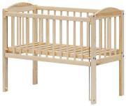 Dětská postýlka k posteli rodičů Baby Scarlett ECO (borovice), stahovací bok 90 x 41 cm