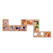 Dřevěné domino - domácí zvířátka