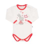 Dětské body s dlouhým rukávem New Baby Lovely Rabbit růžové