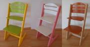 Dětská rostoucí židle Baby Jitro VÍCEBAREVNÁ
