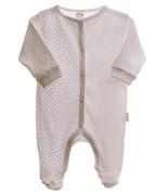Kojenecký overal dlouhý rukáv/nohavice bílé + hvězdičky MKCool Vel. 46