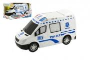 Auto policie plast 20cm narážecí na baterie se zvukem se světlem