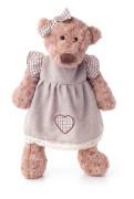 Medvěd Lumpinka v šatech - režné, malá 33 cm