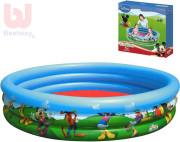 Bazén Mickey Mouse nafukovací 122x25cm 3komory