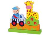 Dřevěné magnetické puzzle - zoo Viga