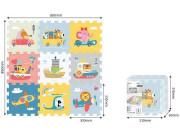 Puzzle s dopravními prosředky a zvířátky 9 ks