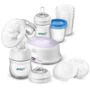 Elektronická odsávačka Avent Natural + sada na kojení
