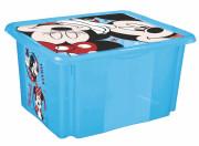 """Úložný box s víkem """"Mickey"""", Modrá 24 l"""
