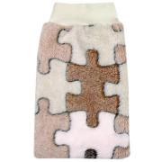 Babyrenka žínka Polar Fleece s nápletem 25x16 cm vzor Puzzle
