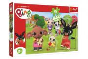 Puzzle Maxi 15 dílků Bing Bunny Bing s přáteli
